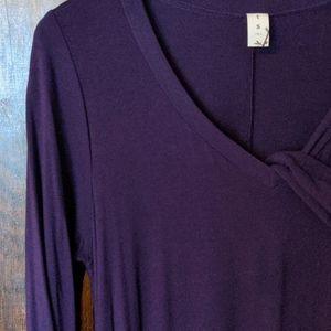 Purple 3/4 sleeve pocket Large dress.